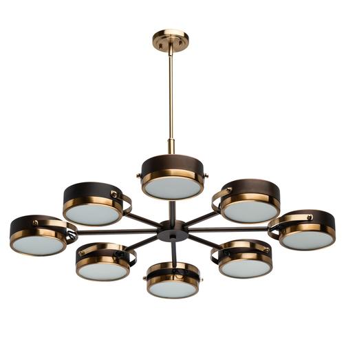Lampa suspendată Hamburg Loft 8 Brass - 605012308