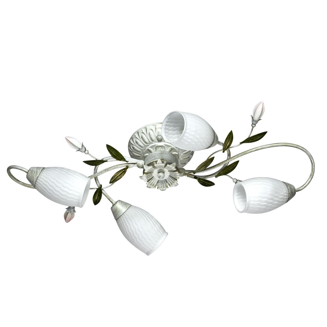 Lampa suspendată Verona Flora 4 White - 334013804