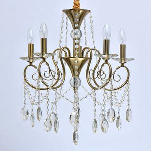 Lampa suspendată Selena Crystal 5 Brass - 482016305 small 1