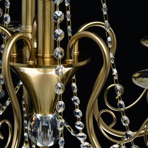 Lampa suspendată Selena Crystal 5 Brass - 482016305 small 12