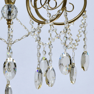 Lampa suspendată Selena Crystal 5 Brass - 482016305 small 2