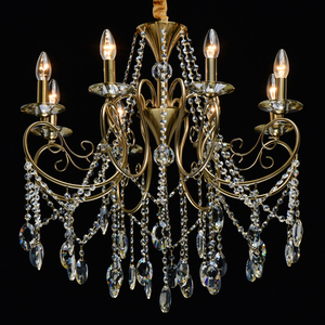 Lampa suspendată Selena Crystal 8 Brass - 482016408 small 1