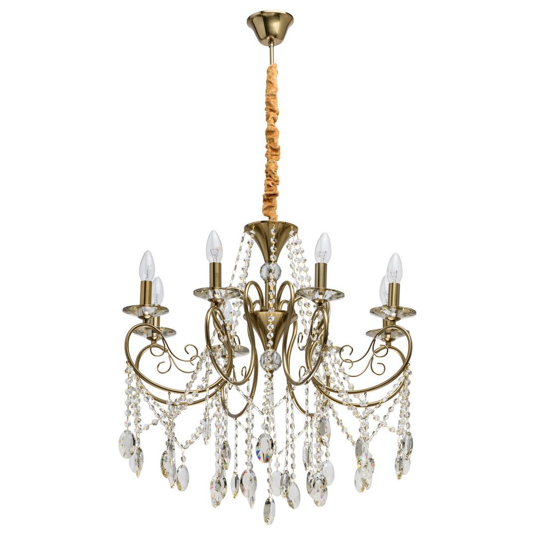 Lampa suspendată Selena Crystal 8 Brass - 482016408