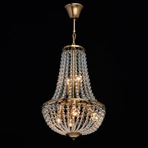 Lampa suspendată Venezia Crystal 6 Brass - 111012406 small 1