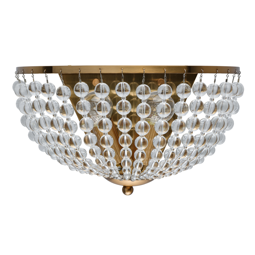 Lampă de perete Venezia Crystal 2 Brass - 111023002