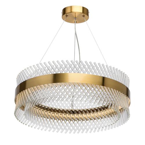 Lampă cu pandantiv Adelard Crystal 52 Brass - 642014001