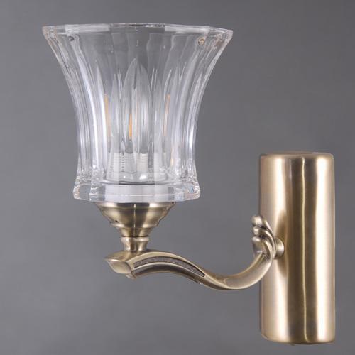 Lampă de perete Amanda Classic 1 Brass - 481024001