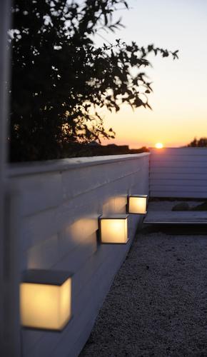 Lampă de exterior cu sursă de lumină înlocuibilă Lutec BOX CUBE