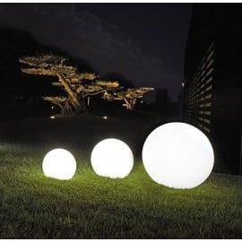 Un set de bile decorative de grădină - Bile Luna 25, 30, 40 cm + Becuri Led small 4