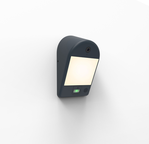 Lampa de exterior Lutec MIMO cu cameră, senzor de mișcare și difuzor
