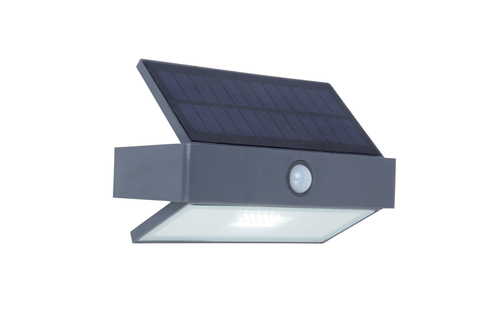 Lampă de perete solară de exterior cu senzor de mișcare Lutec ARROW