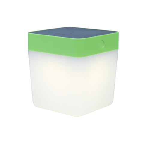 Lampa de masă solară Lutec TABLE CUBE verde