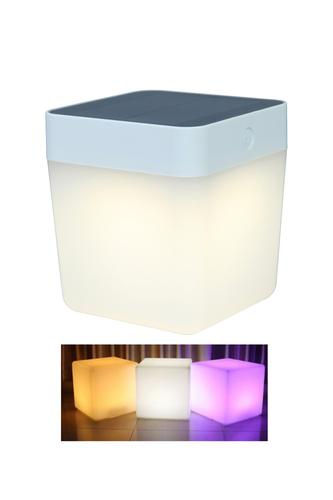 Lampa solara de exterior Lutec TABLE CUBE