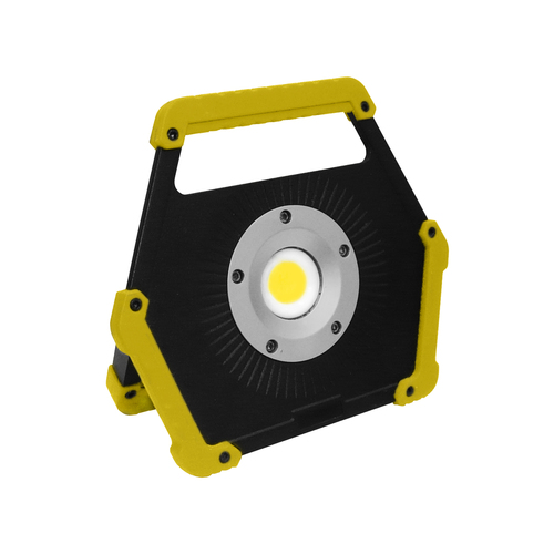 LED floodlight 10W 6400K baterie galbenă