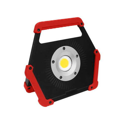 LED floodlight 10W 6400K baterie roșie