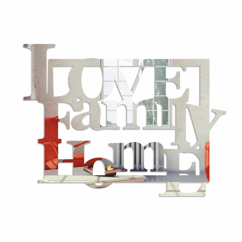 Oglinda decorativa LOVE FAMILY HOME plexi