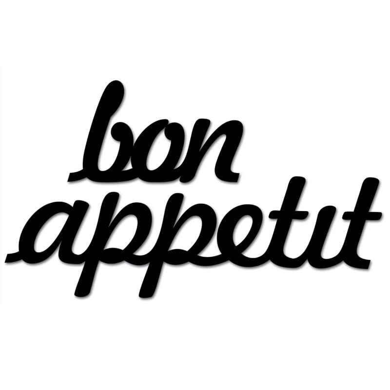 Inscripție pe perete BON APETIT negru
