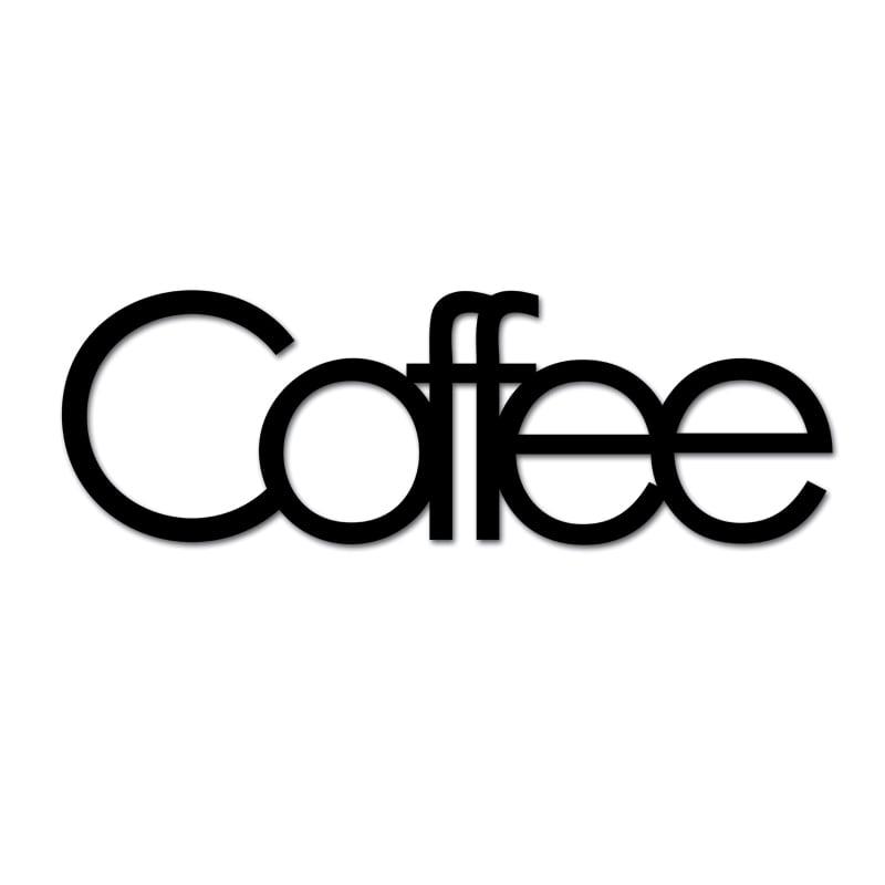Inscriere pe perete COFFEE negru
