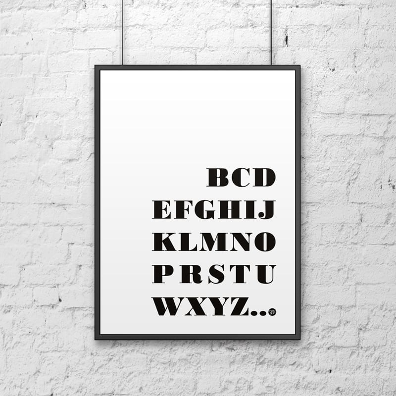 Poster decorativ 50x70 cm BCD ... alb