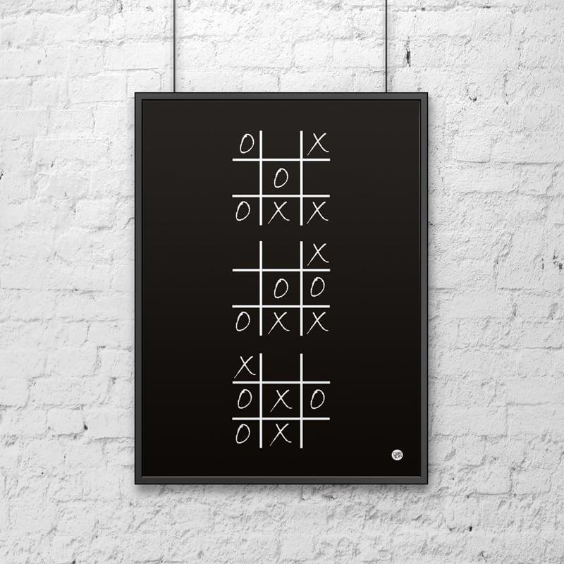 Poster decorativ 50x70 cm Roată și negru CROSS