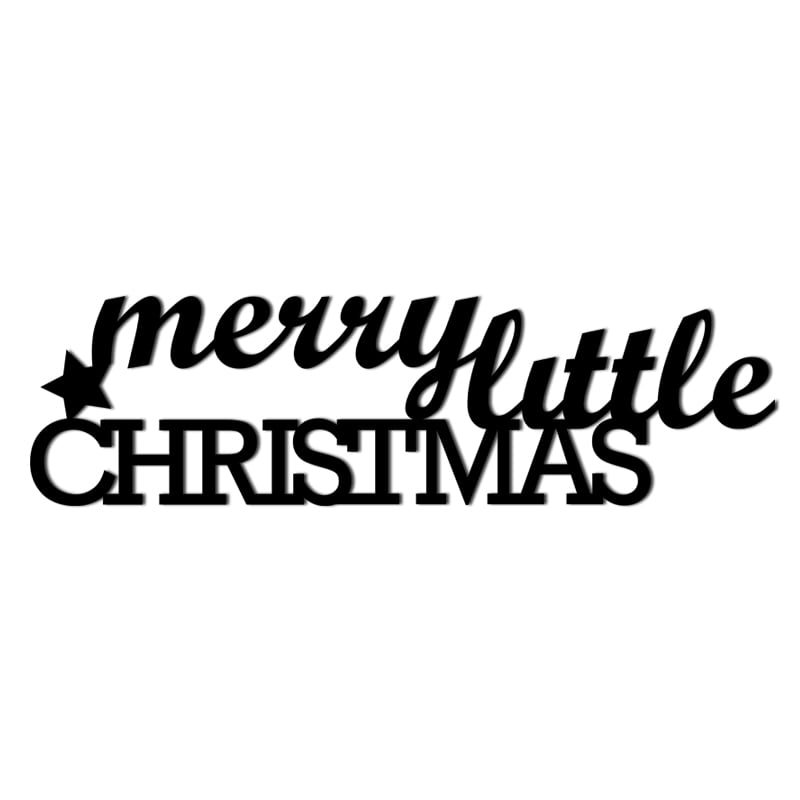 Inscripție de Crăciun pe peretele lui MERRY LITTLE CHRISTMAS