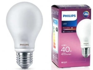 PHILIPS Lampa LED 4,5W E27 230V ALB small 0
