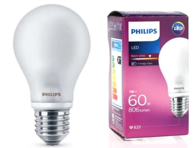 PHILIPS LED E27 A60 7W 806 lumen bec