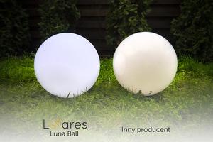 Un set de bile decorative de grădină - Bile Luna 20, 25, 30, 40 cm + Becuri Led small 2