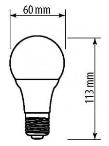 Bec LED GTV E27 A60 10 W 840 lm EMPTY 60W A + small 1