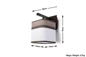 Aplica clasică Cappuccino pentru dormitor small 4