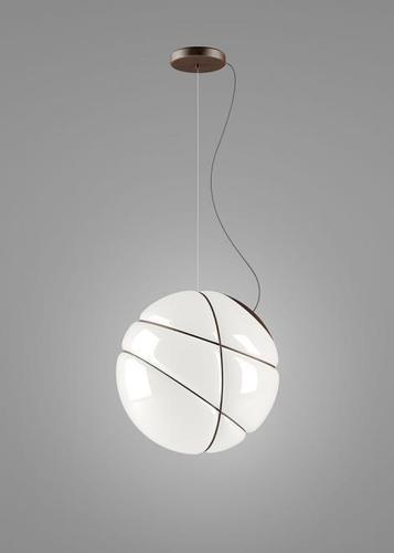 Lampa suspendată Fabbian Armilla F50 13W - alb și maro - F50 A01 14