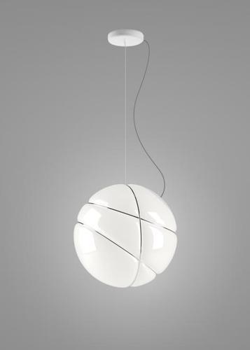Lampa suspendată Fabbian Armilla F50 13W - alb și crom - F50 A03 01