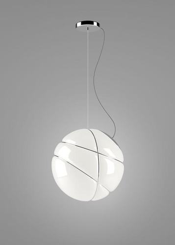Lampa suspendată Fabbian Armilla F50 13W - alb și argintiu - F50 A03 15