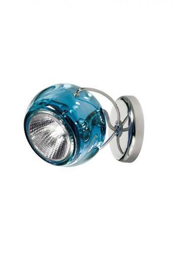 Lampă de perete Fabbian Beluga Culoare D57 7W - albastru - D57 G13 31