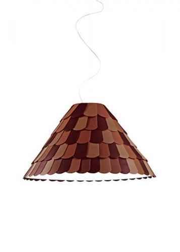 Lampa suspendată Fabbian Roofer F12 76cm - portocaliu - F12 A03 32