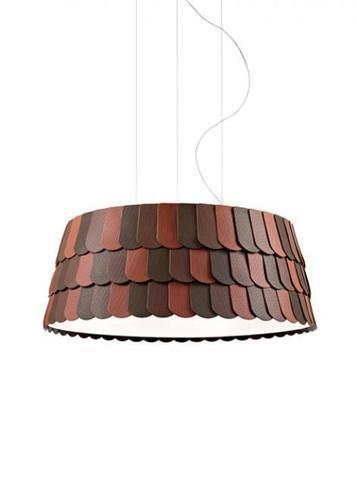 Lampa suspendată Fabbian Roofer F12 79cm - portocaliu - F12 A07 32