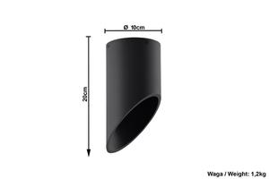 Plafonier negru PENNE 20 small 4