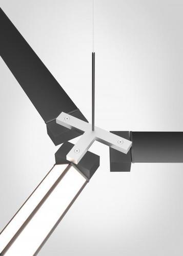 Accesorii Fabbian Pivot F39 Triple conector - Oțel anodizat - F39 Z03 27