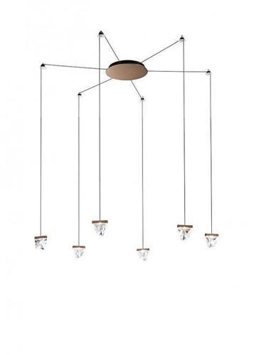 Lampa suspendată Fabbian Tripla F41 3W 6 - Bronz - F41 G03 76