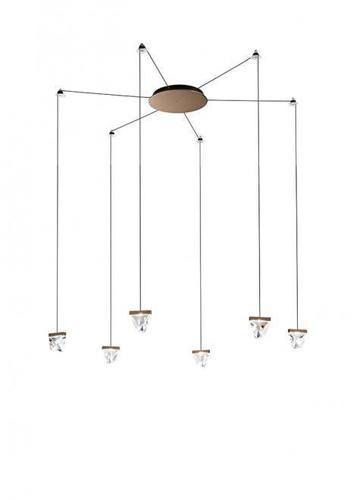 Lampa suspendată Fabbian Tripla F41 3W 6 - Bronz - F41 G04 76