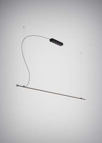 Lampa suspendată Fabbian Freeline F44 8W 2m - Negru - F44 A03 02