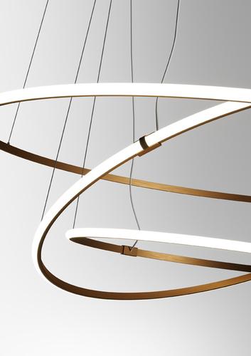 Lampa suspendată Fabbian Olympic F45 56W 80,2cm 3000K - Bronz - F45 A01 76