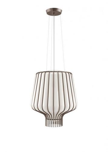 Lampa suspendată Fabbian Saya F47 22W 40cm - alb și maro - F47 A09 01