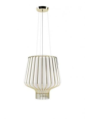 Lampa suspendată Fabbian Saya F47 22W 40cm - alb și auriu - F47 A21 01