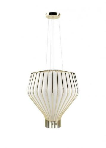Lampa suspendată Fabbian Saya F47 22W 48cm - alb și auriu - F47 A23 01