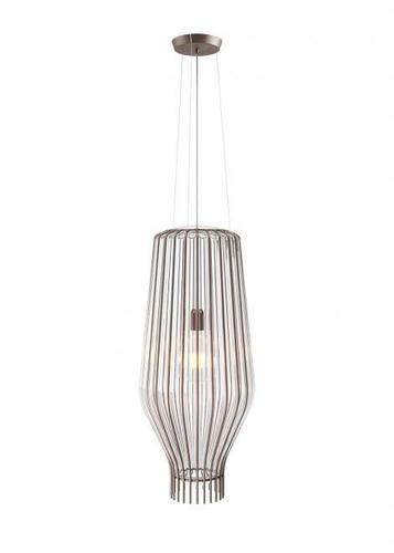 Lampa suspendată Fabbian Saya F47 22W 31cm - Transparent și fumos - F47 A17 00