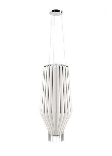 Lampa suspendată Fabbian Saya F47 22W 31cm - alb și crom - F47 A19 01