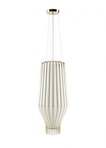 Lampa suspendată Fabbian Saya F47 22W 31cm - alb și auriu - F47 A25 01