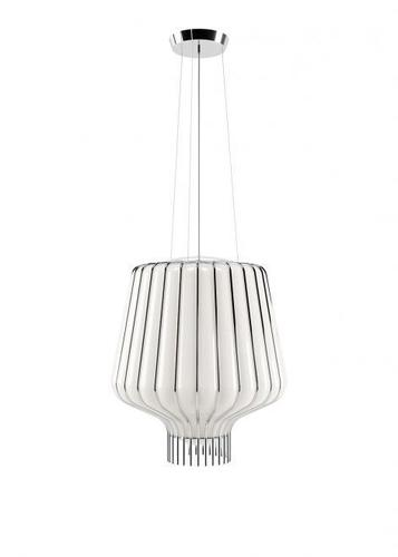 Lampa suspendată Fabbian Saya F47 22W 40cm - alb și crom - F47 A11 01