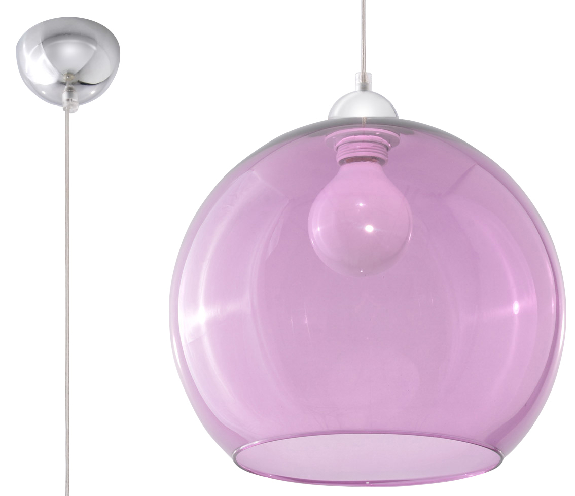 Lampa suspendată BALL violet